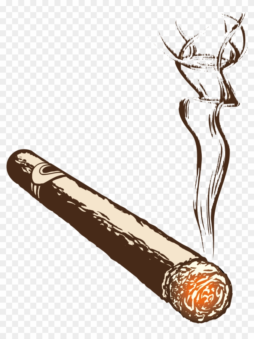 Clip art free download. Cigar clipart cigar smoke