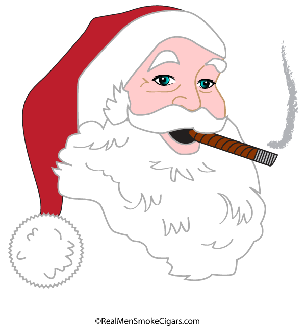 Santa shirt . Cigar clipart cigar smoke
