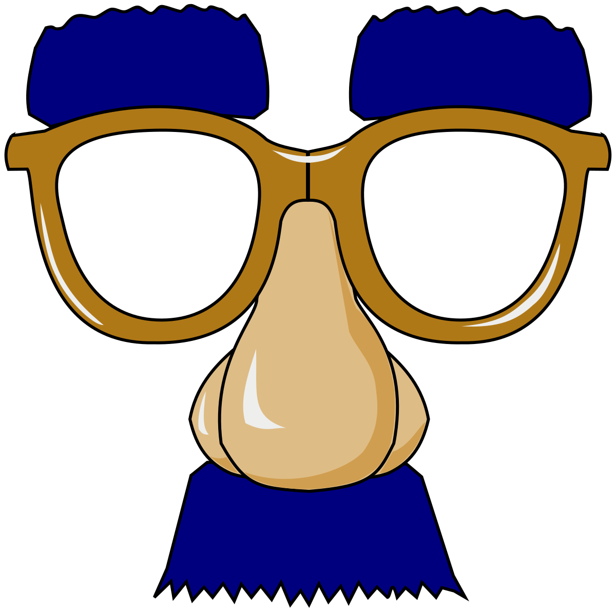 Groucho glasses wikipedia . Eyebrow clipart glass mustache nose