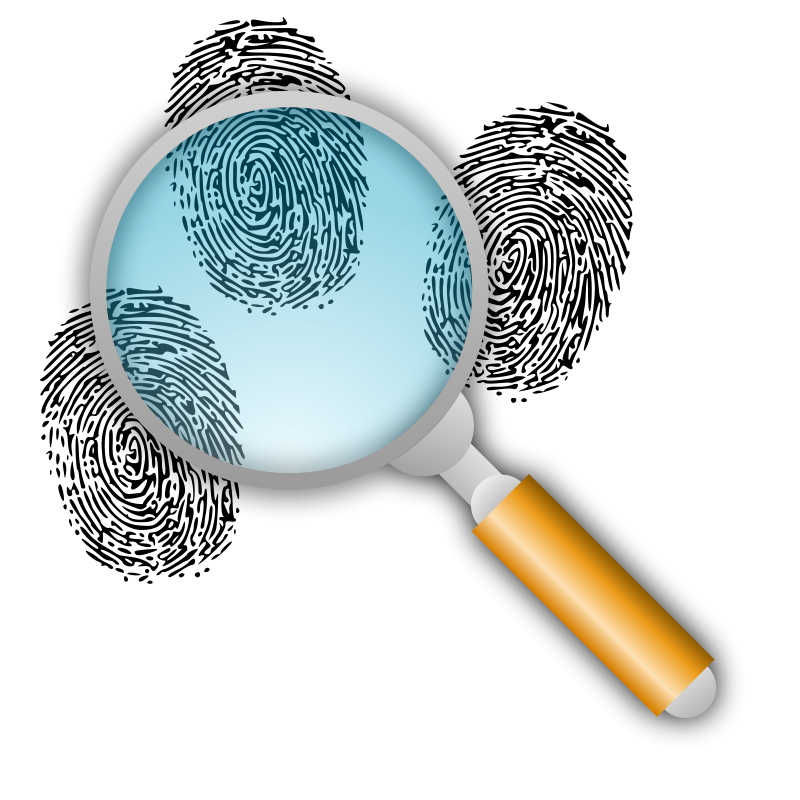 Evidence clipart equipment. Search for fingerprints detective