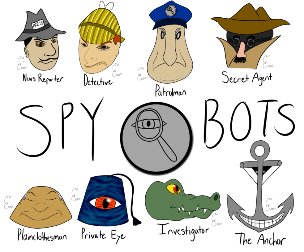 Meet the spybots in. Cigar clipart detective