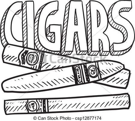 Cigar clipart drawing.  clip art clipartlook