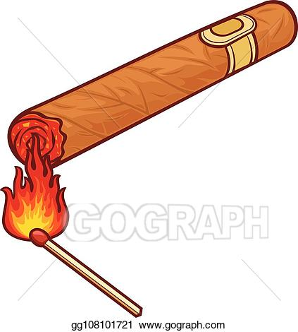 Cigar clipart drawing. Vector art cuban and