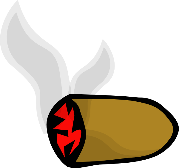 Smoke Cigar Stub Clip Art at Clker