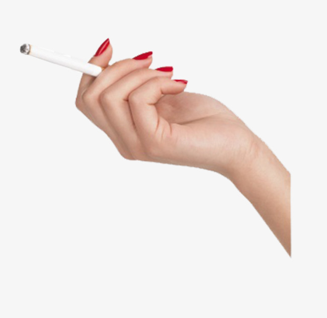 A burning cigarette c. Cigar clipart hand holding