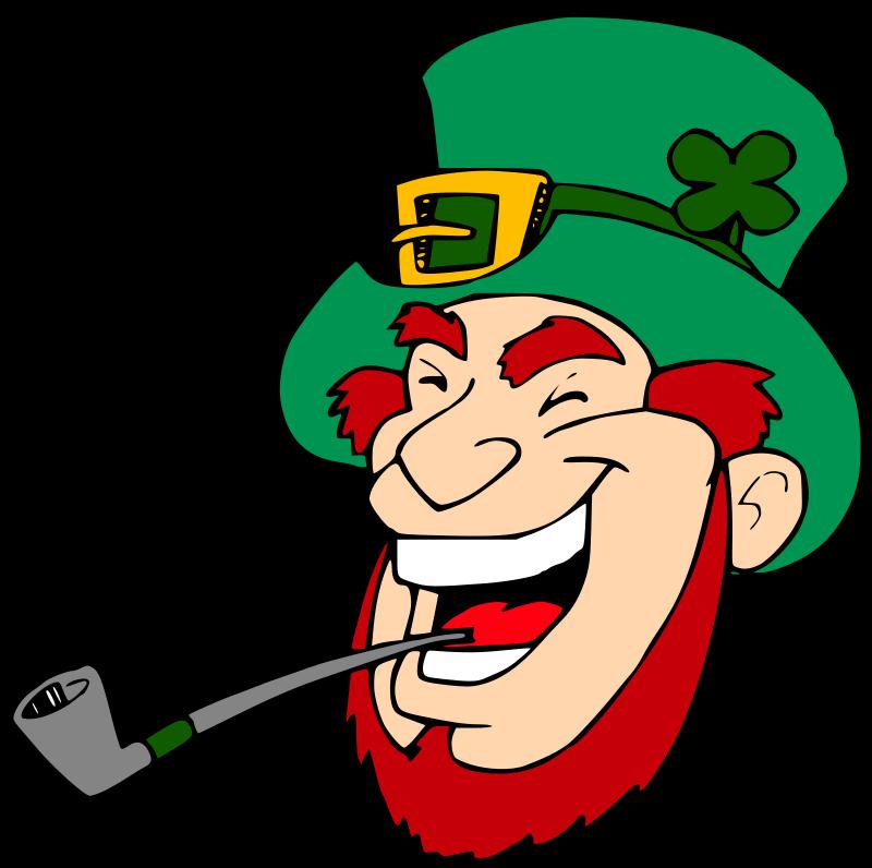 Person laughing group cartoon. Cigar clipart leprechaun