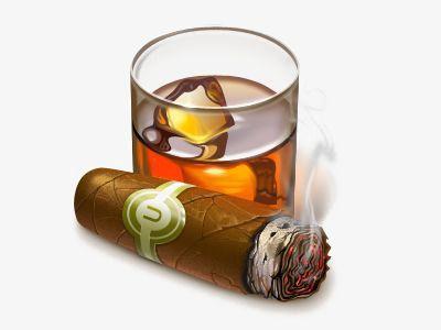 Pin by annie phalipaud. Cigar clipart scotch glass