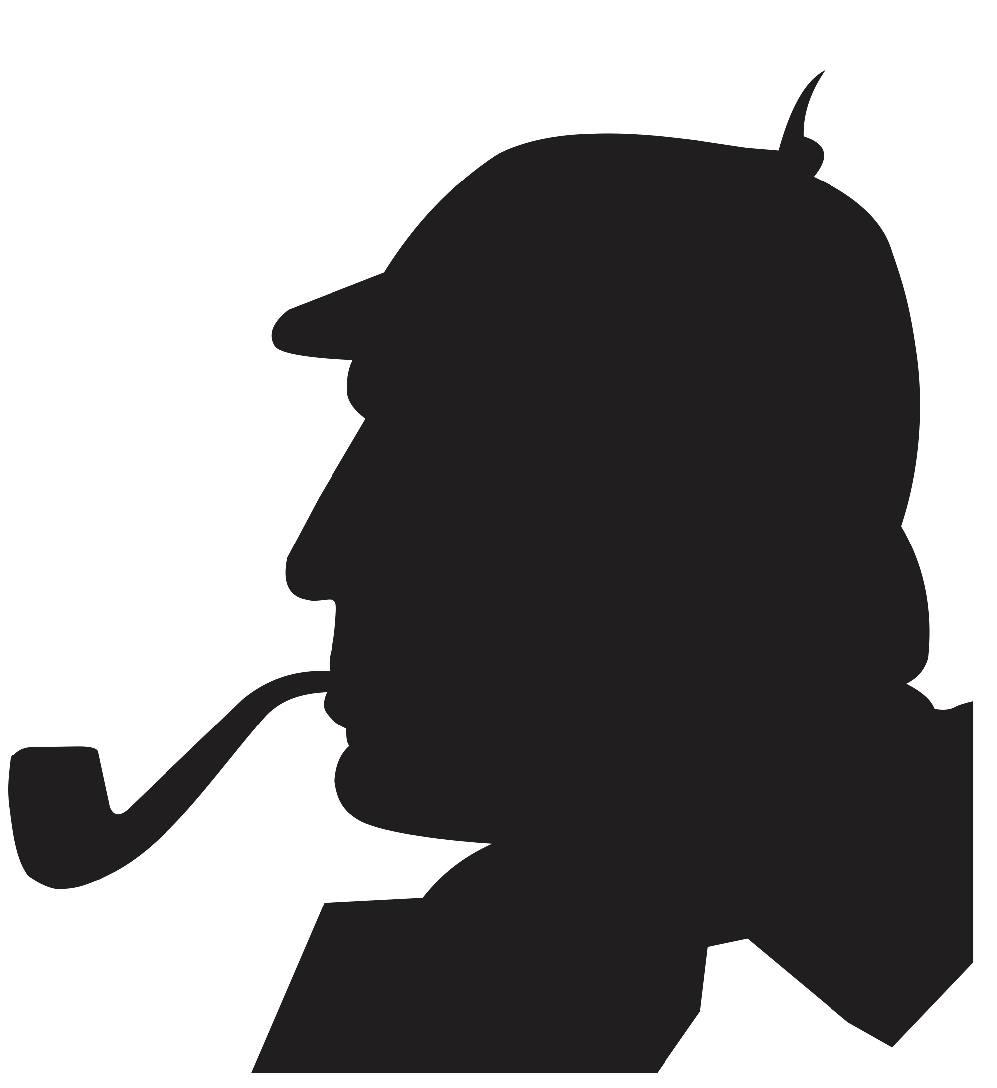 Silhouette free at getdrawings. Detective clipart sherlock holmes pipe