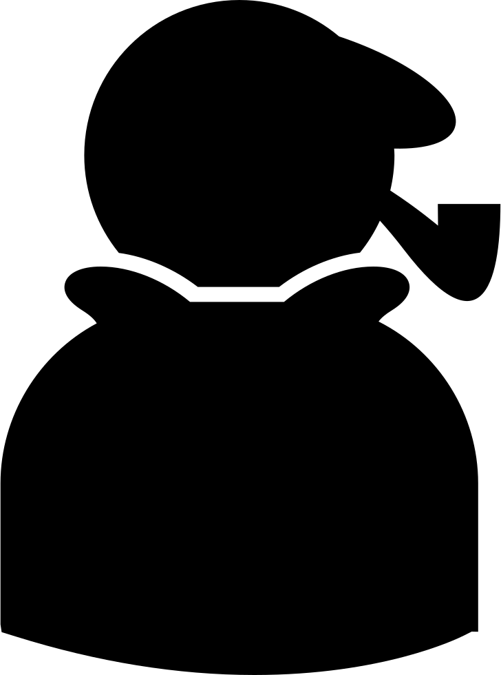Silhouette with svg png. Cigar clipart sherlock holmes pipe