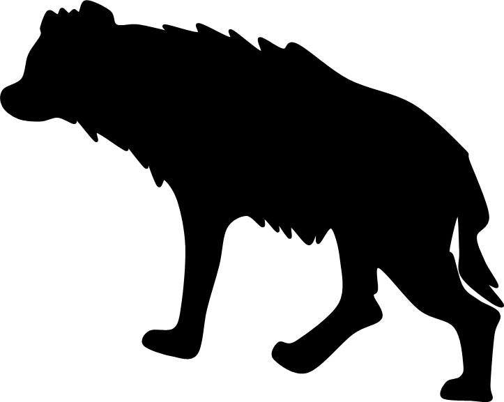 Simple hyena google search. Rat clipart silhouette