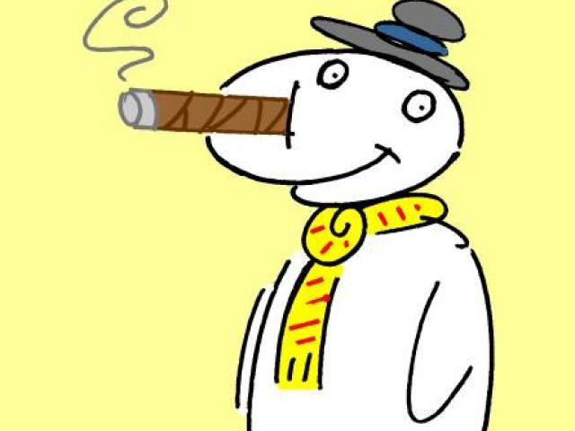 X free clip art. Cigar clipart snowman