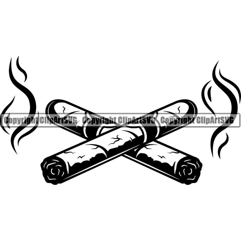 Cigar clipart svg. Cigars crossed smoking tobacco