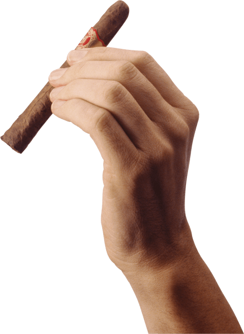 Hand png free images. Cigar clipart transparent background
