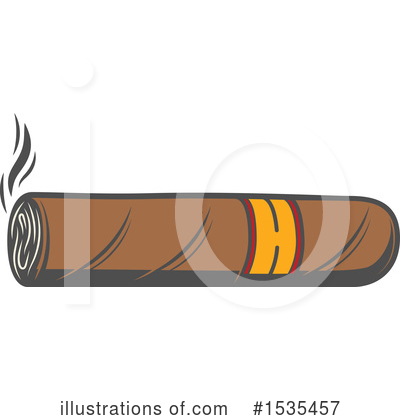 Cigar clipart vector. Illustration by tradition sm
