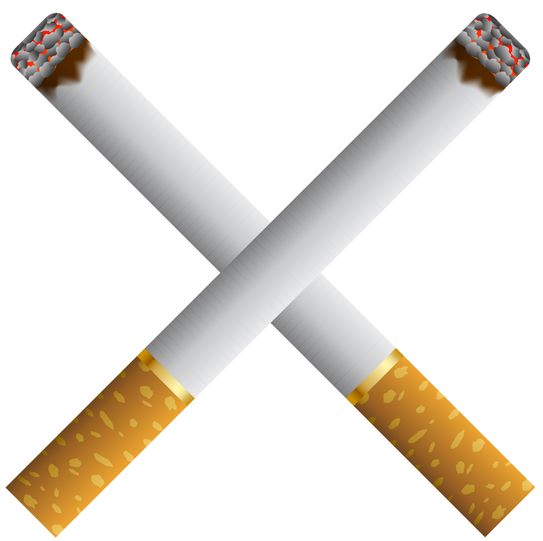 Two crossed cigarettes png. Cigarette clipart