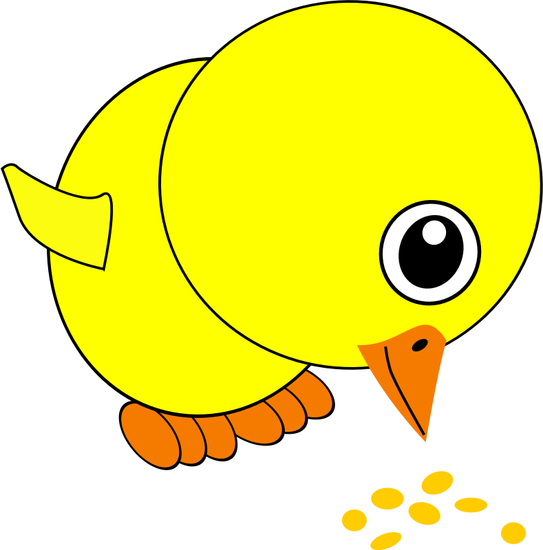 Cigarette clipart bent. Image for chick eating