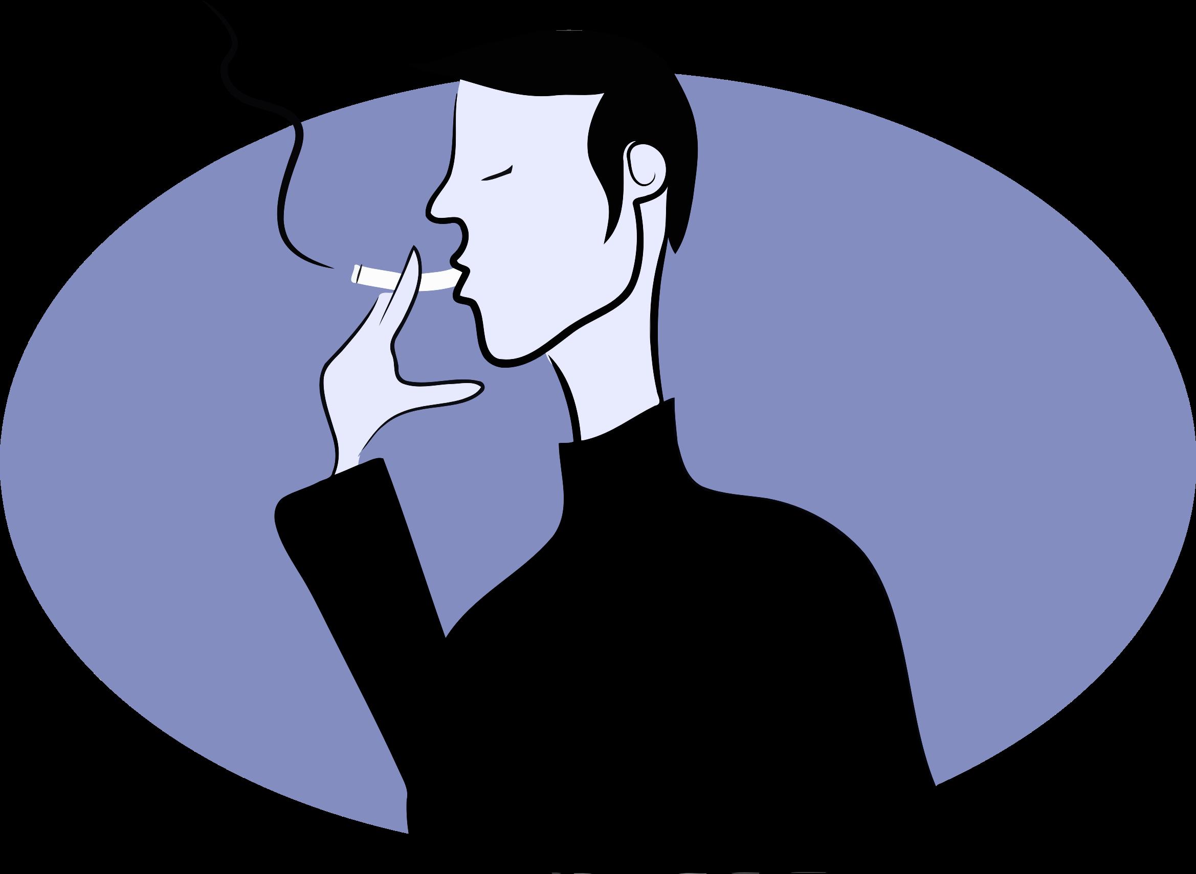 Smoking man big image. Clipart png smoke