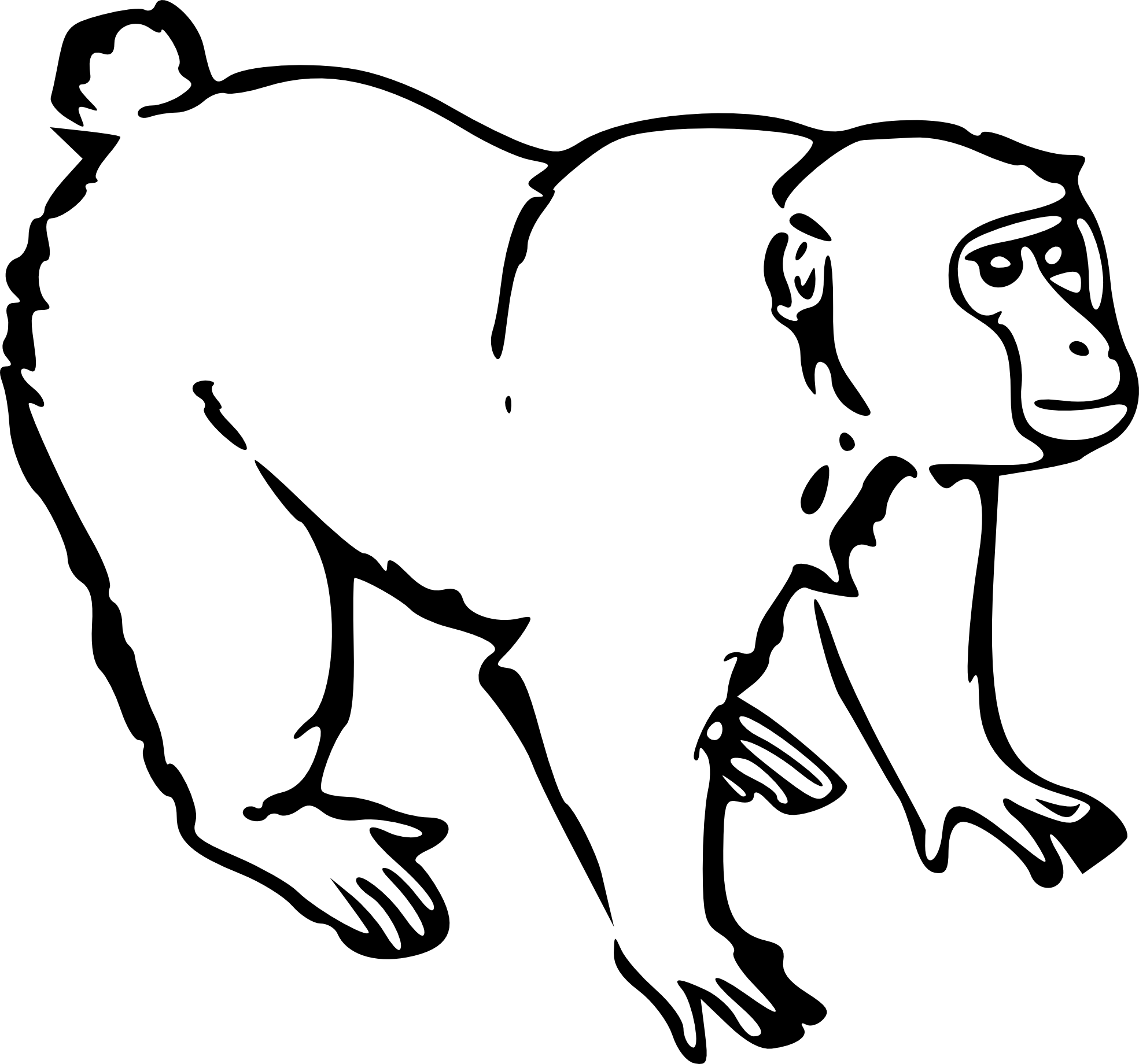 Monkey clipart pencil. Png black and white