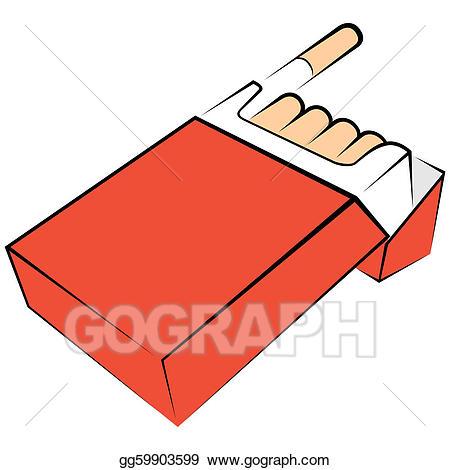 Vector cigarettes package illustration. Cigarette clipart cigarette carton