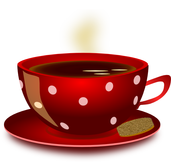 Coffee clip art vector. Hearts clipart tea cup