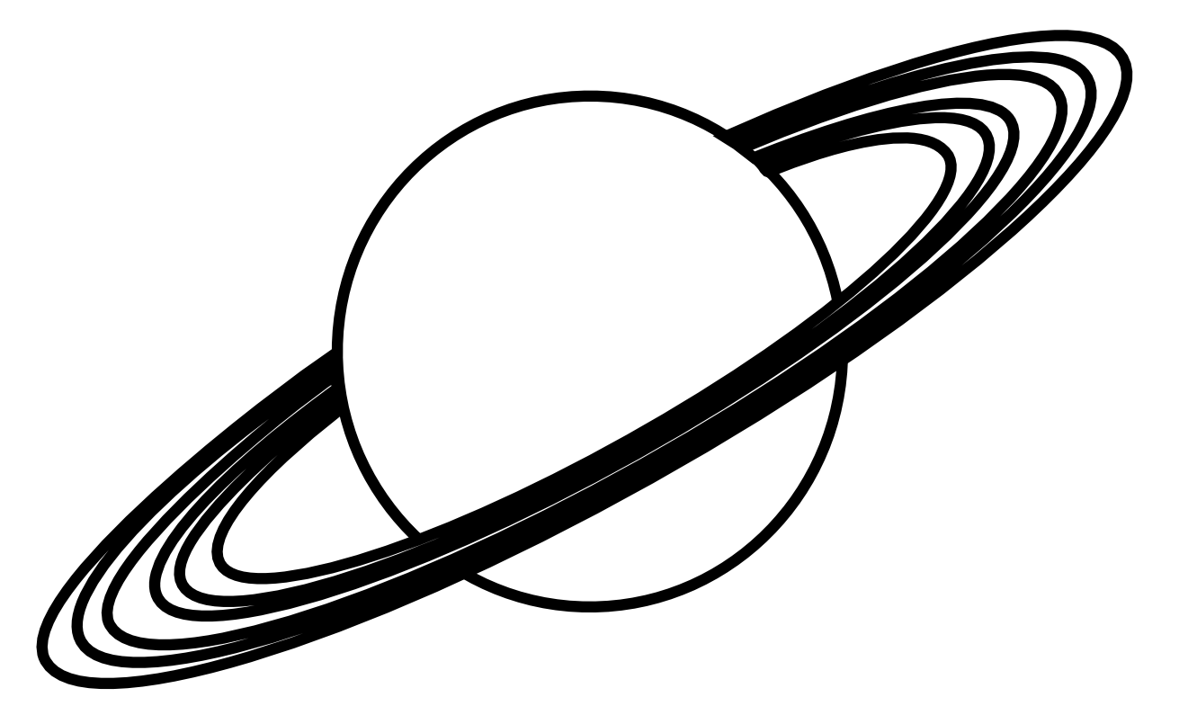 Earth black and white. Saturn clipart illustrations