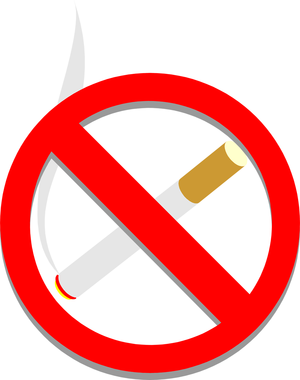 No smoking free stock. Cigarette clipart crushed
