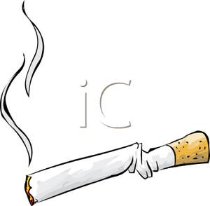 Cigarette clipart crushed. A lit royalty free