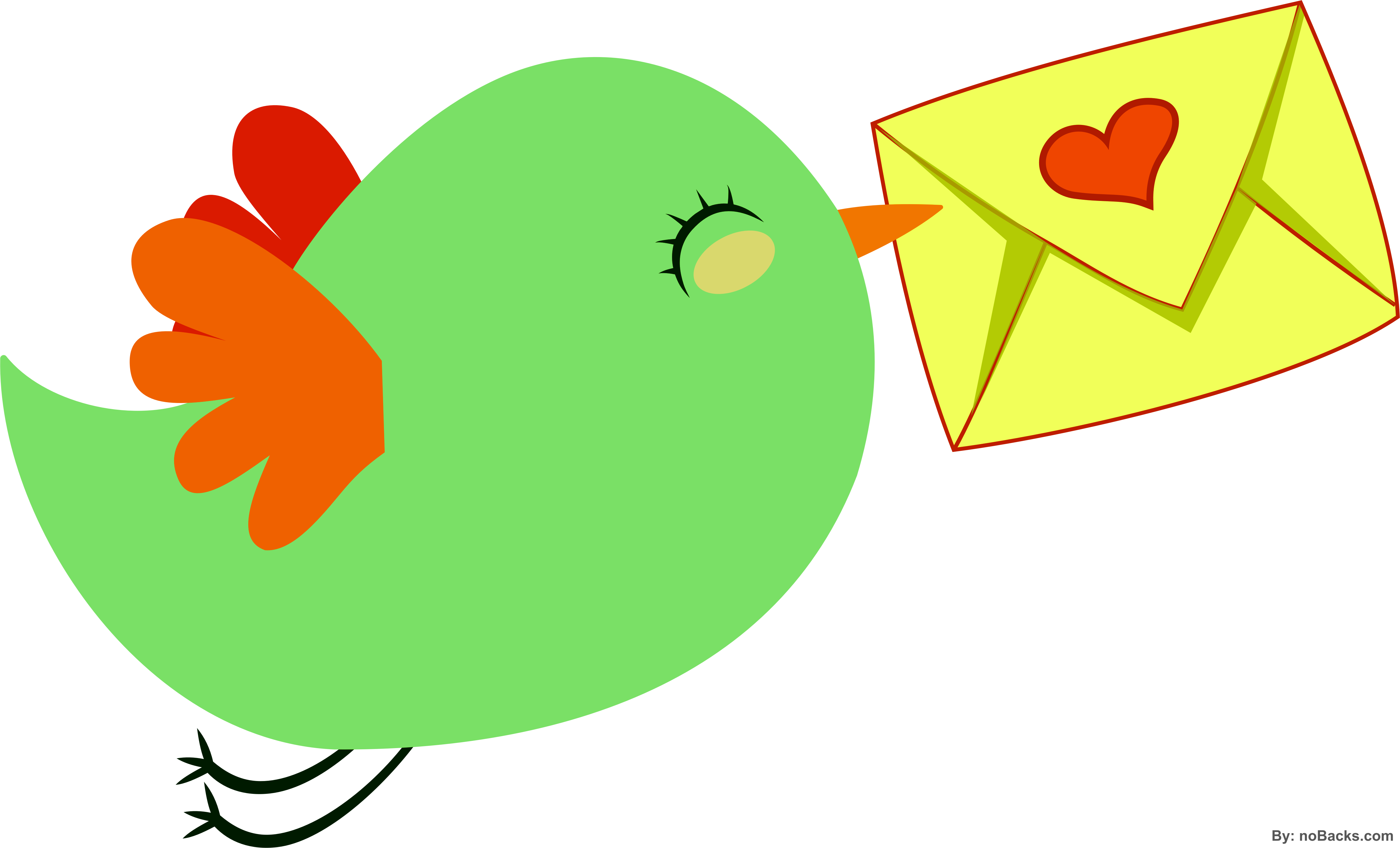 Small flying with love. Parrot clipart bird fly