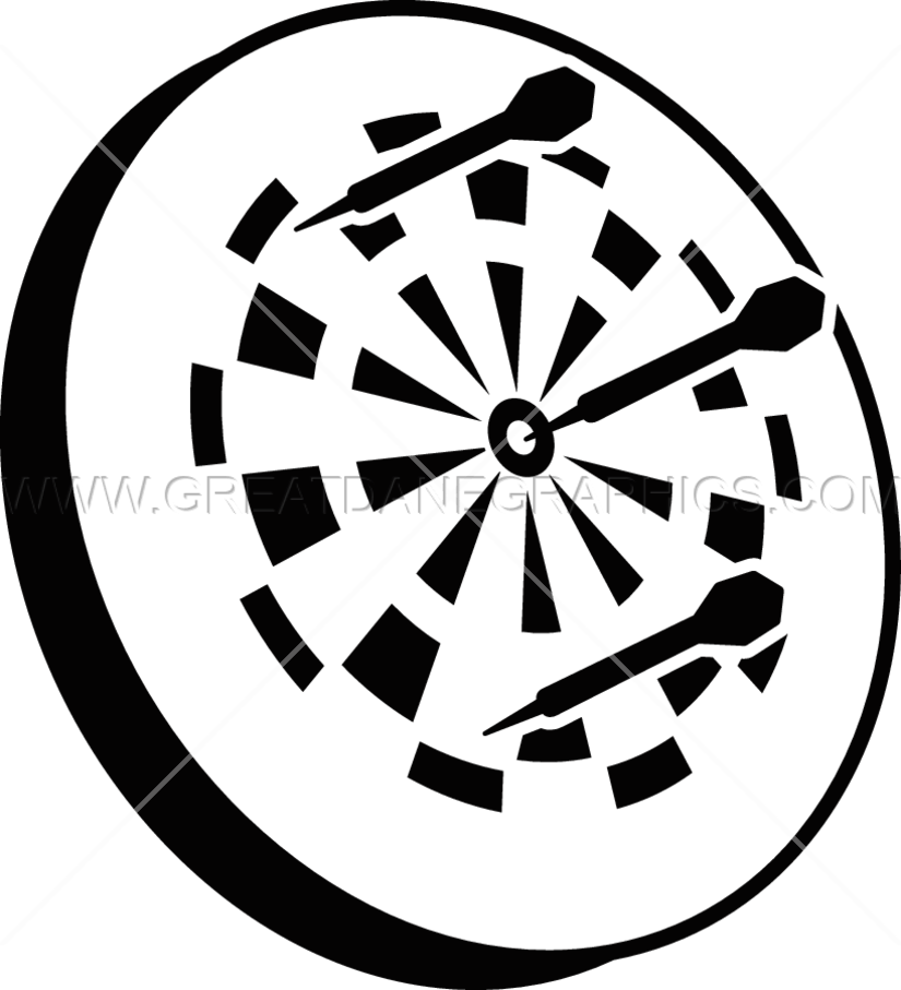 Darts black and white