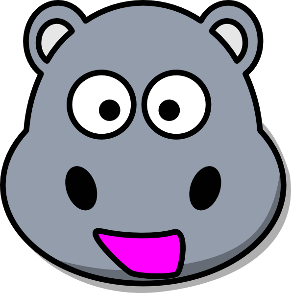 Zebra face at getdrawings. Hippo clipart pink hippo