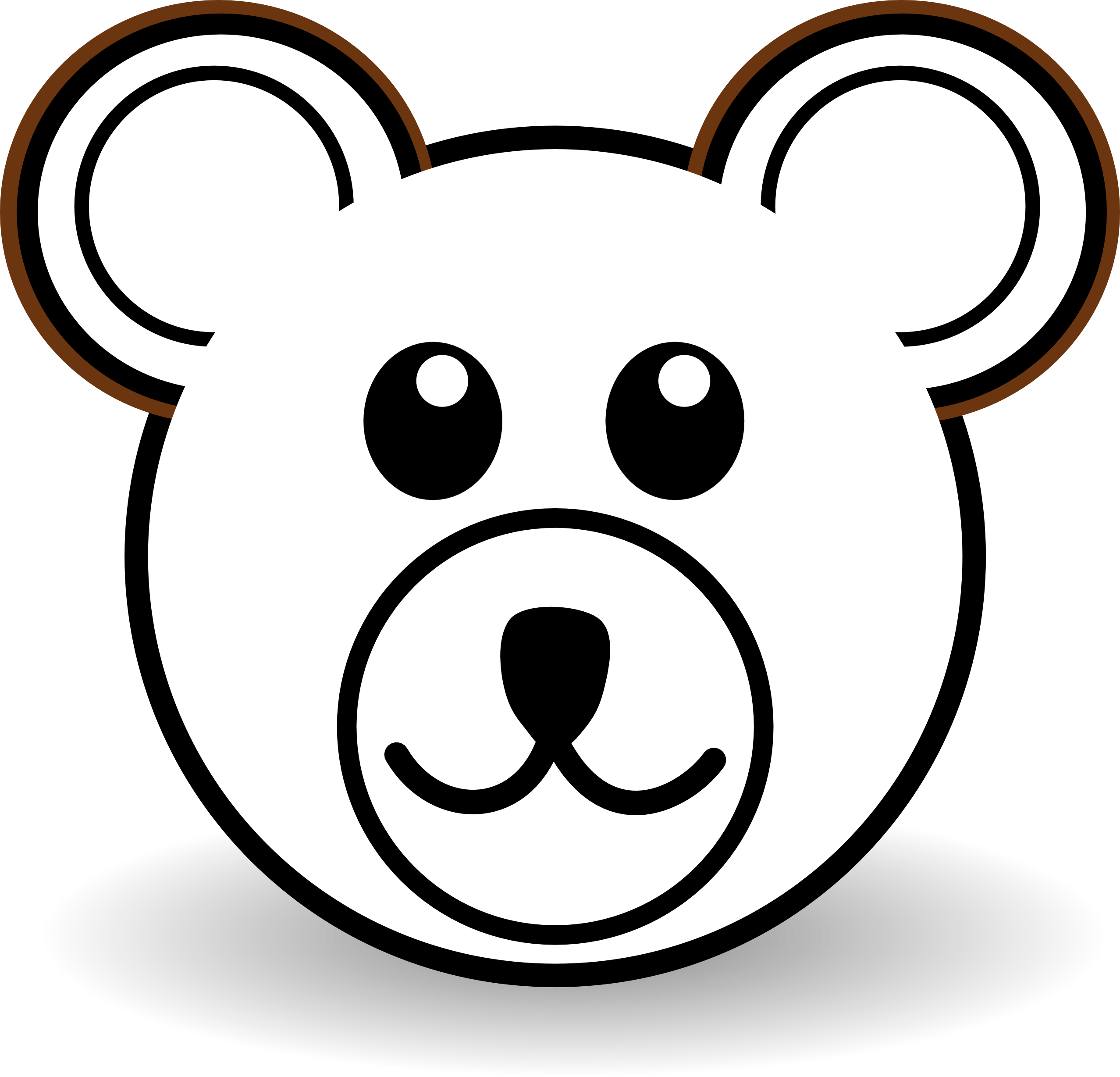 Number 1 clipart face. Bear png hd transparent