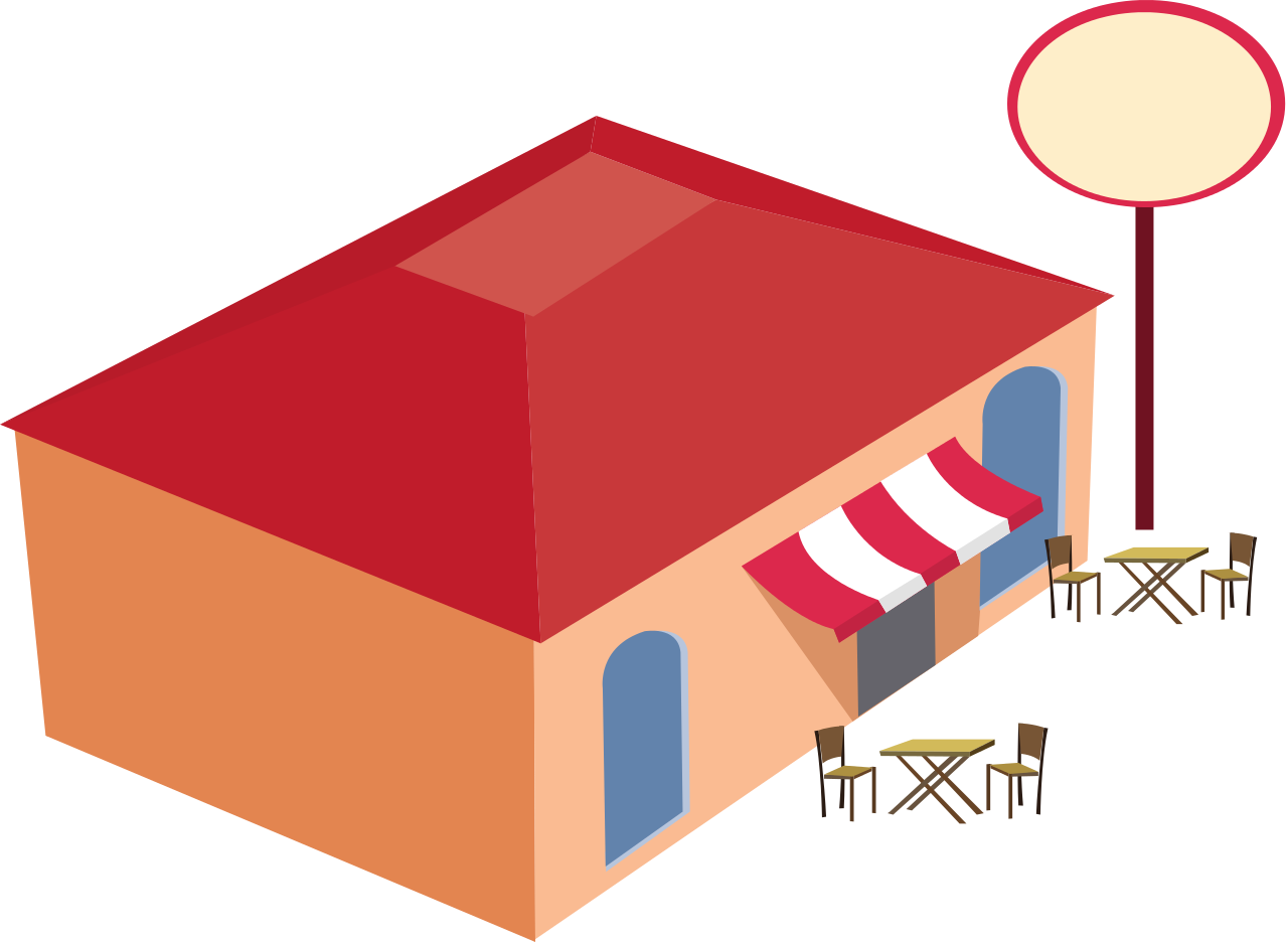 Restaurants clipart grocery store building. Restaurant png hd transparent