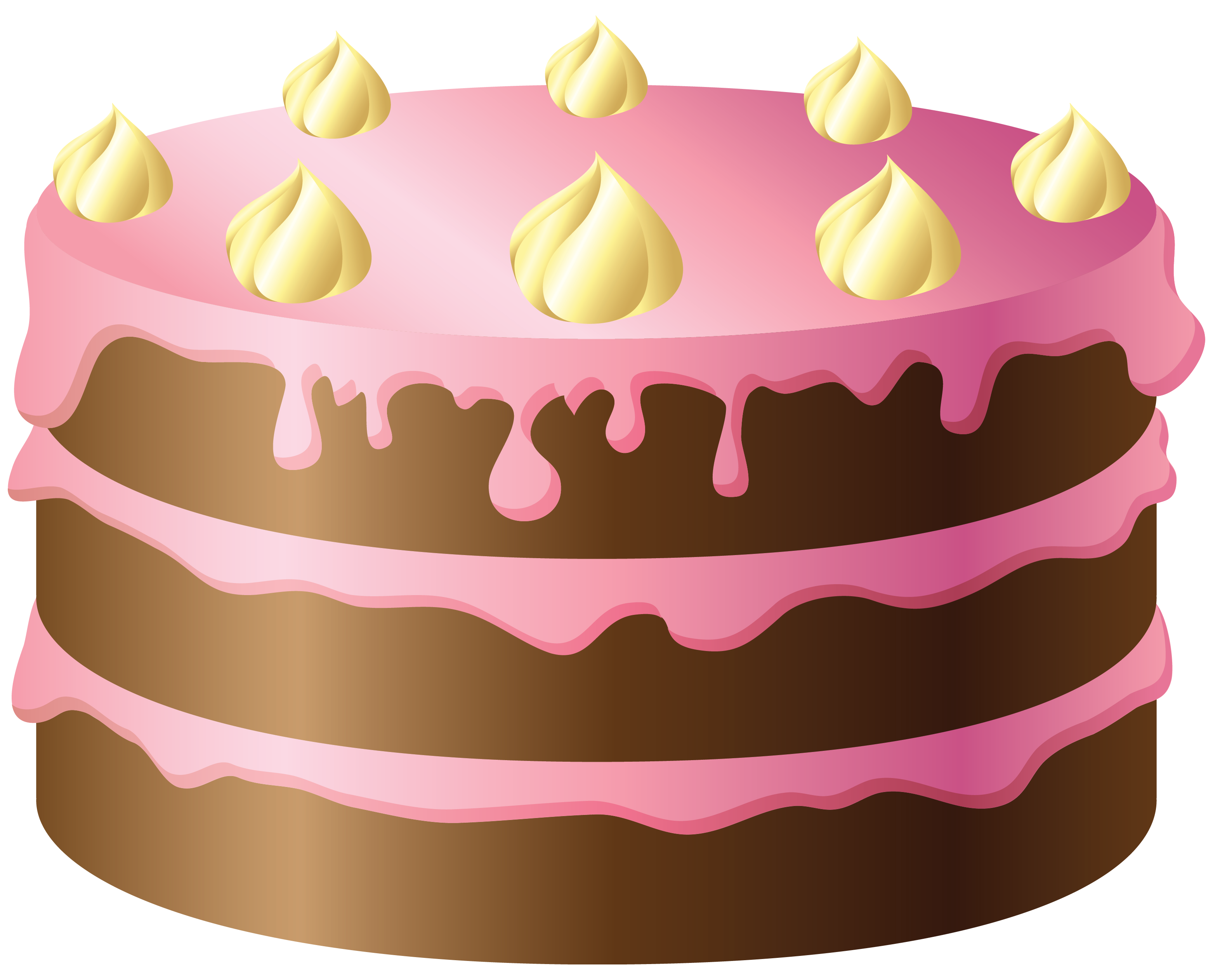 Chocolate cake with pink. Dishes clipart agar clipart