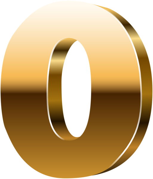 Number d gold png. Hole clipart zero