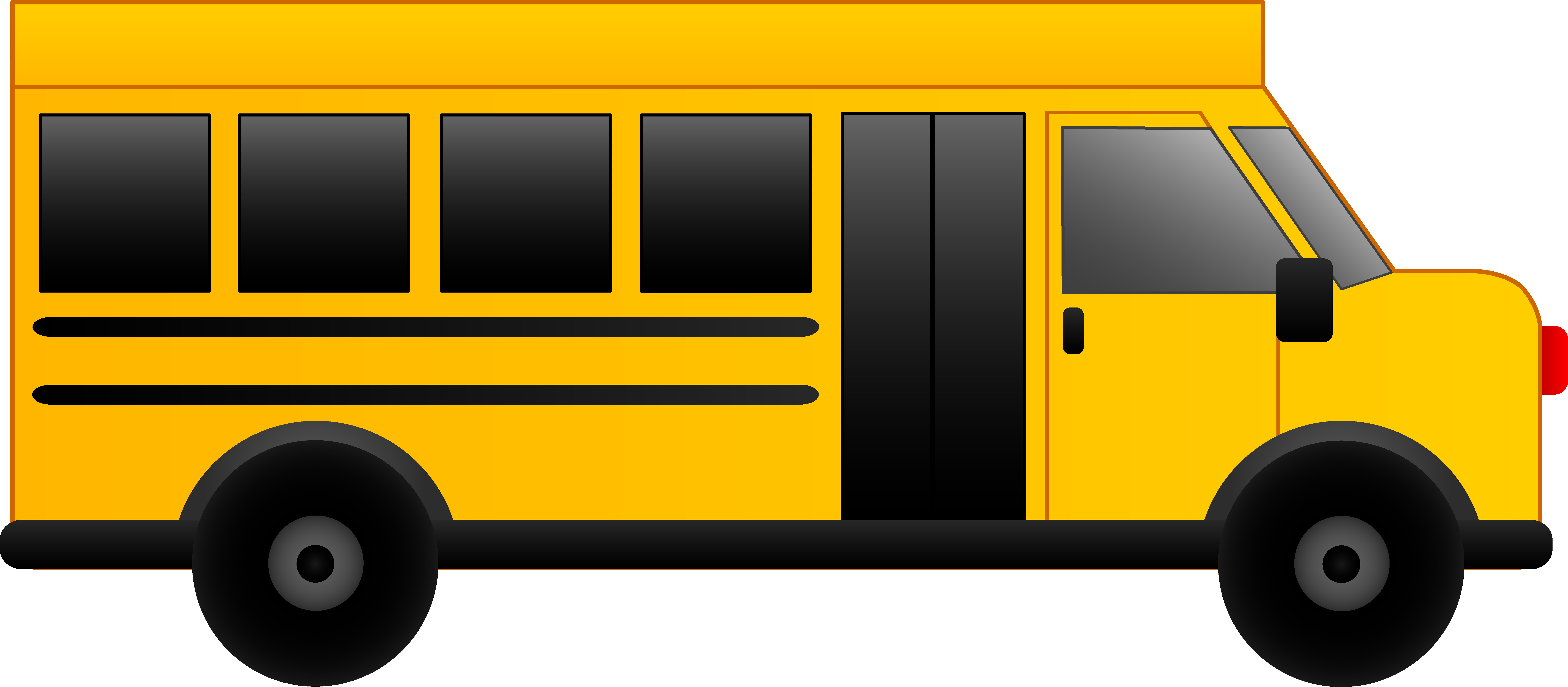 driver clipart yellow school bus