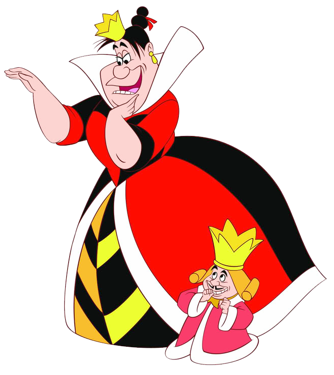 Clipart birthday alice in wonderland. Queen king of hearts
