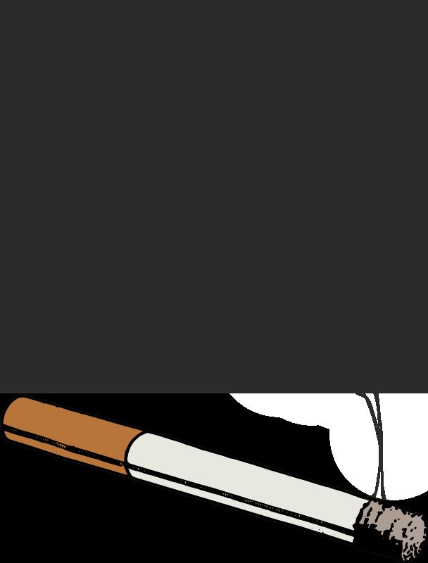 Smoke smoking. Clipart realistic transparent