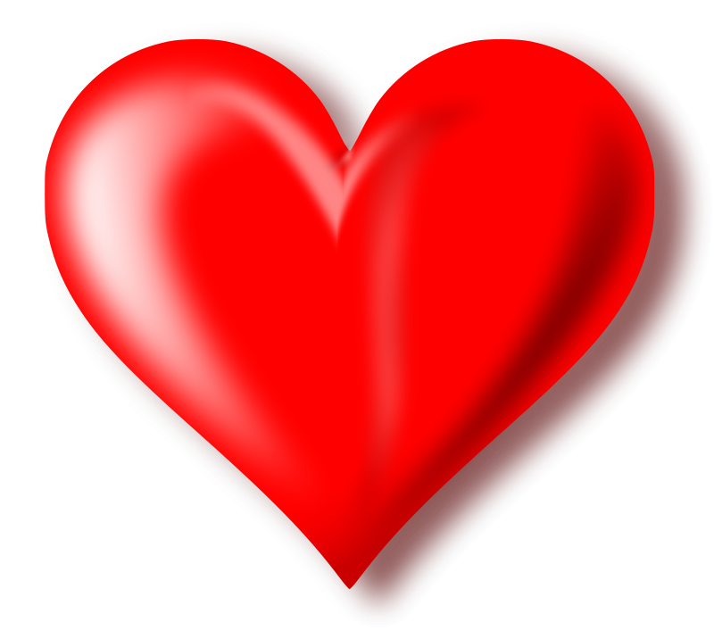 Love one isolated stock. Clipart box heart
