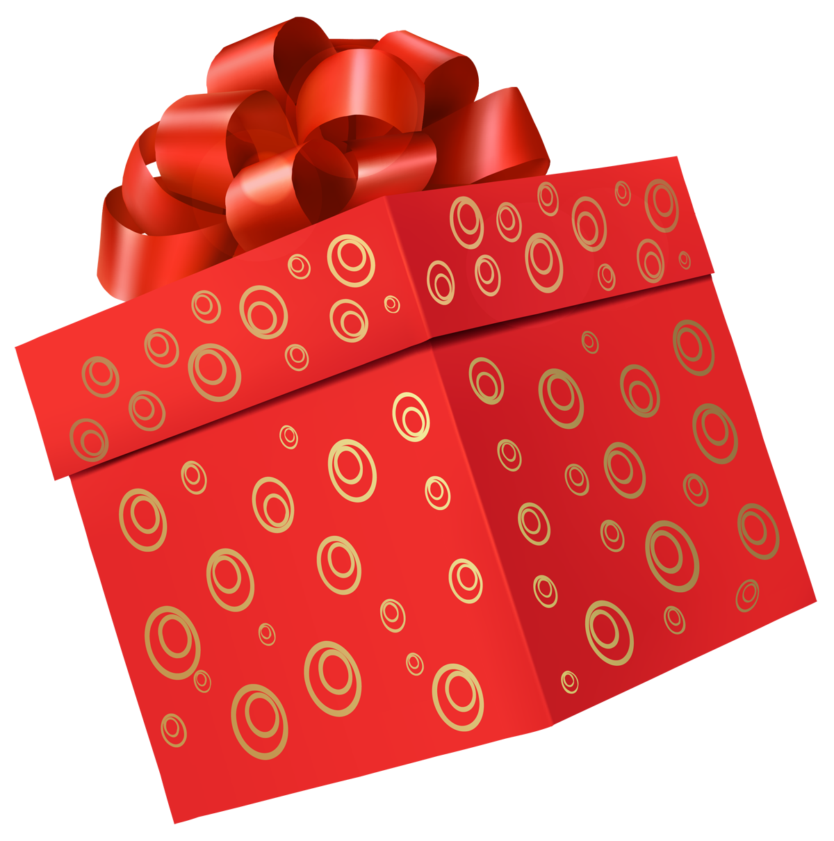 Gift box one isolated. Gifts clipart present outline
