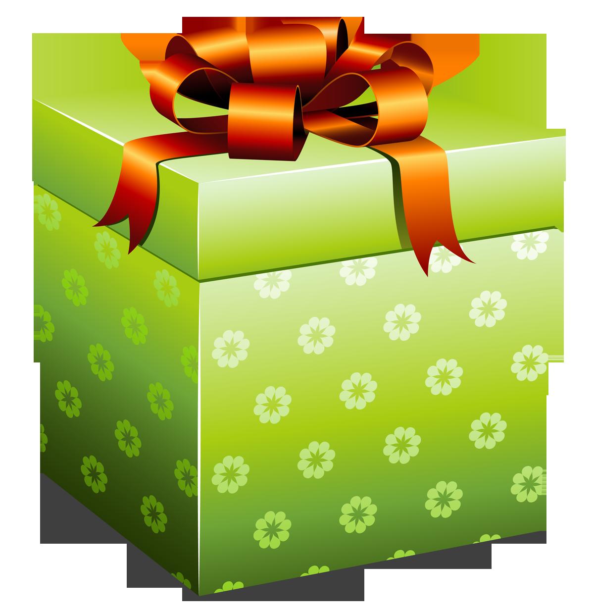 Clipart present illustration. Gift box fourteen isolated