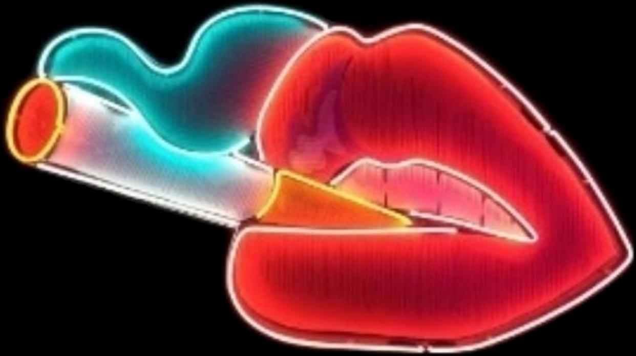 Mouth cigarette neon smoke. Lip clipart tumblr lip