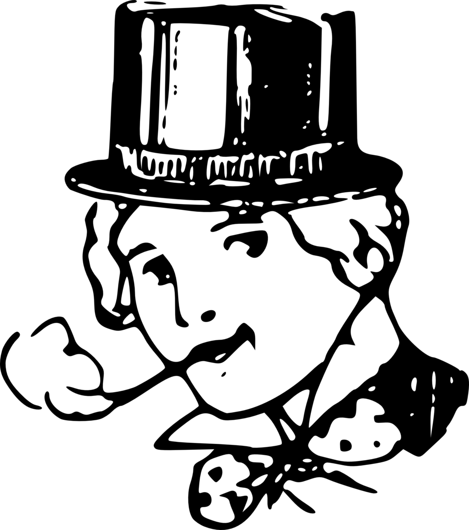 Public domain clip art. Smoking clipart black and white