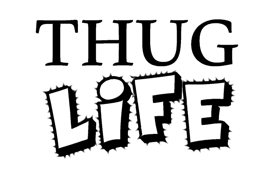 Life text transparent background. Glass clipart thug
