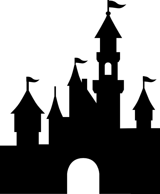 Clipart castle mountain. Best silhouette clipartion com