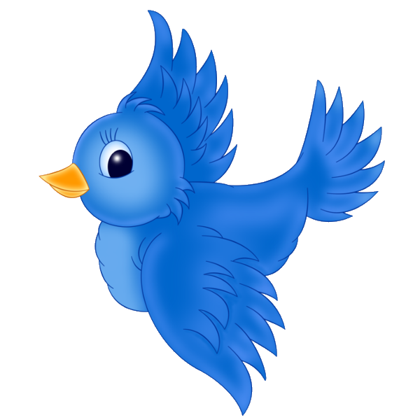 Blue birds clip art. Nest clipart yellow bird