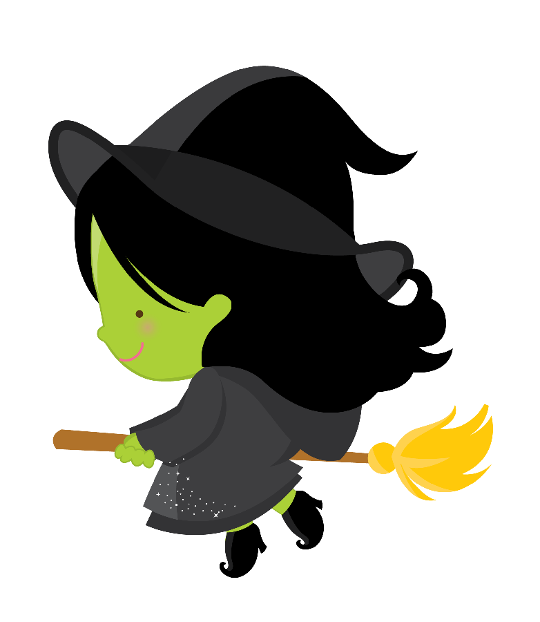 O m gico de. Witch clipart wizard oz