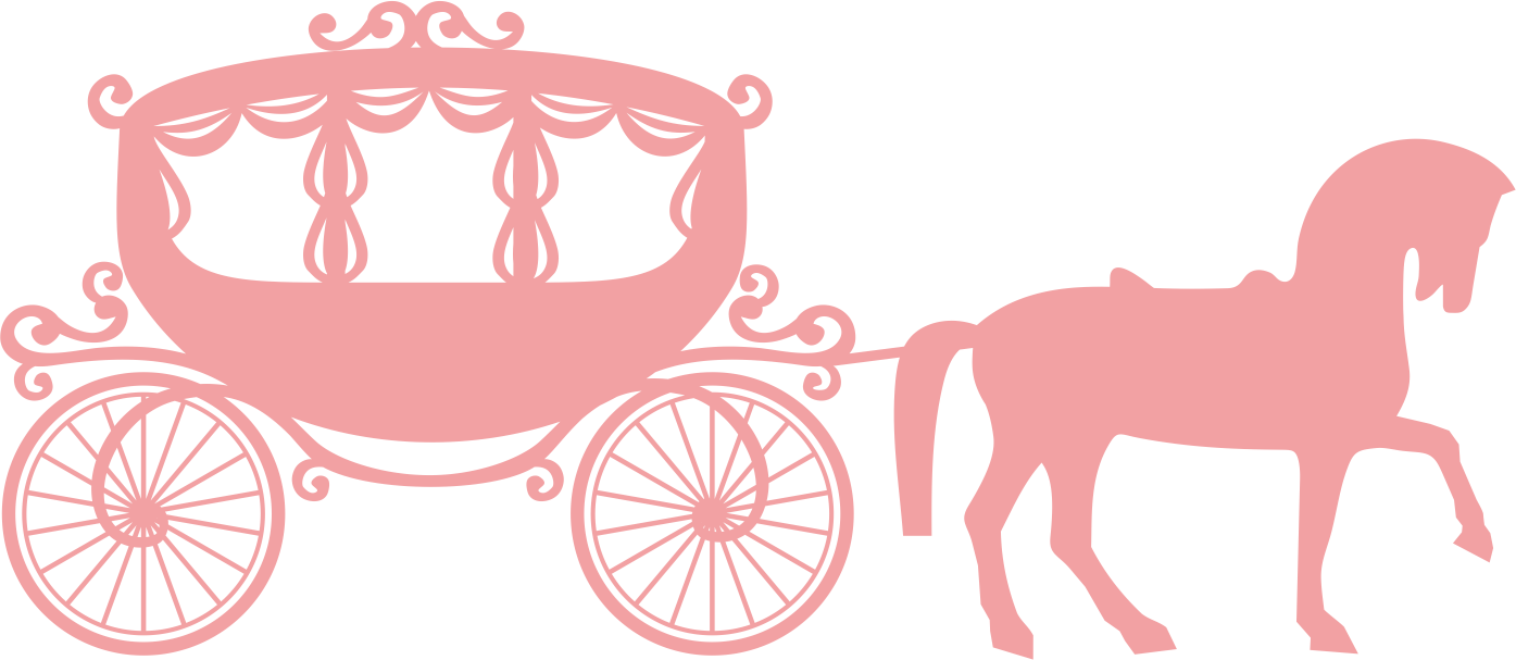 Horse and buggy carriage. Donut clipart cart