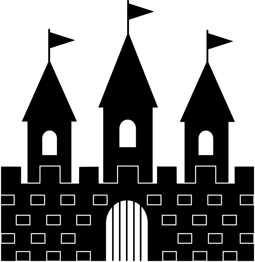 Hill clipart castle on. Cinderellas silhouette at getdrawings