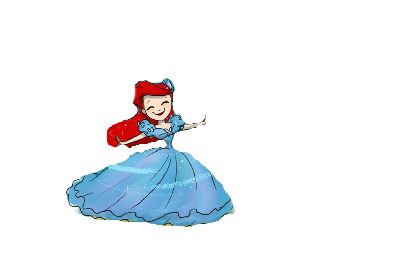 Princess ariel as cinderella. Pocket clipart animated