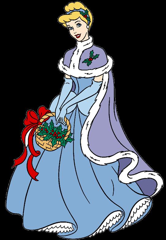Disney transparent png azpng. Cinderella clipart christmas